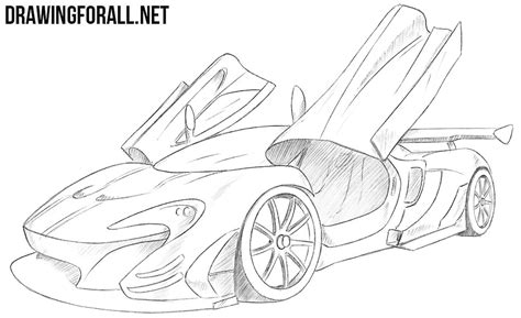mclaren drawing how to draw a mclaren p1 gtr drawingforall