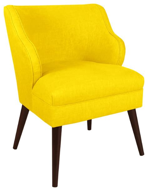 Yellow Accent Chair Made To Order Yellow Modern Chair Contemporary Armchairs And Accent Chairs By Overstock