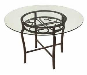 chintaly imports 48 inch round dining table w glass top