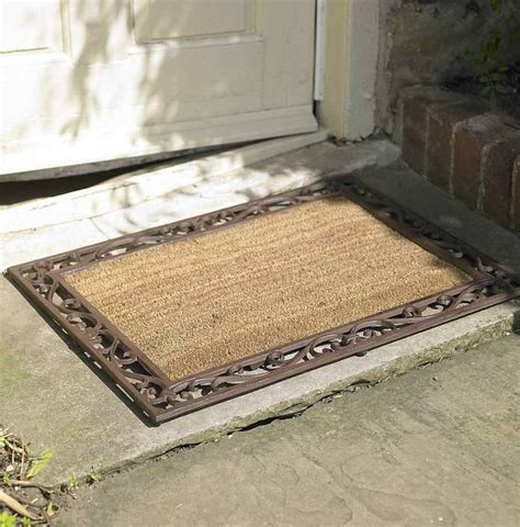 Cast Iron Doormat cast iron coir rectangular door mat by dibor notonthehighstreet