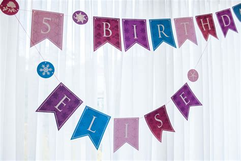 custom printable birthday banner personalized princess happy birthday banner printable pdf