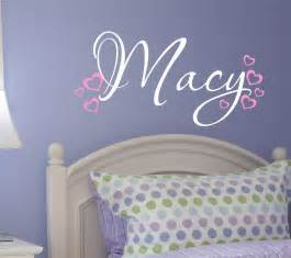 Name Wall Stickers Nursery Wall Decal Custom Name Vinyl Wall Decal Heart Wall