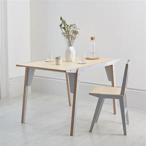 flac flat pack birch plywood dining table by lycan design
