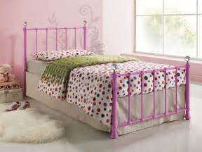 Cream Metal Single Bed Frame Jessica 3ft Single Children S Girls Bed In Either Cream Or