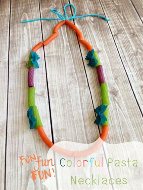 pasta crafts for pasta necklace craft and colorful coloring