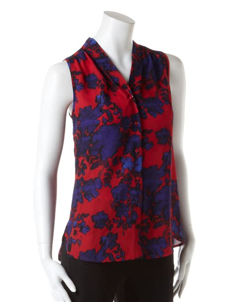 Allover Floral Prints Flatter Lifestyle Magazine 3 by Sleeveless Floral Print Blouse Chiffon Blouse Pink