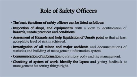 Officers Responsibilities by Construction Safety Management