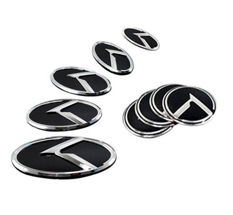 Kia Optima Emblem Set Kia K Logo Optima K5 3d Emblem 7pc Set