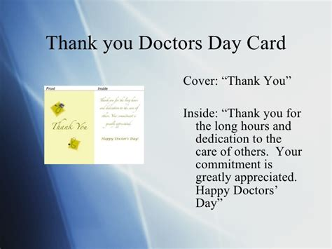 thank you letter appreciation to a doctor doctors day greeting cards