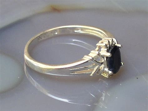 925 sterling silver black onyx ring signed nvc size 10