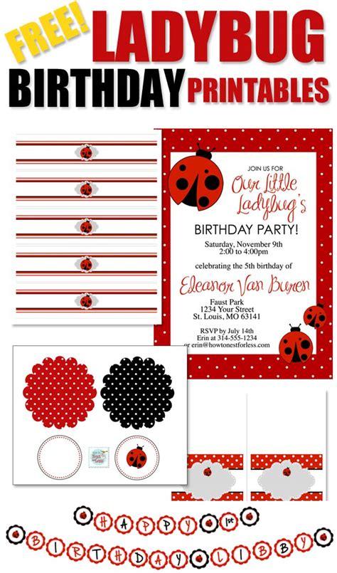 free printable birthday cards ladybugs ladybug themed birthday party with free printables how
