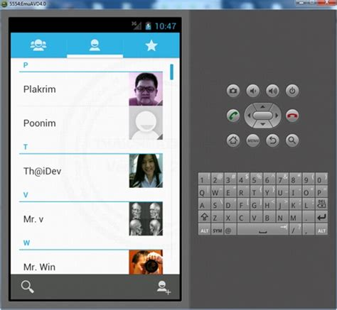 tutorial android contact android people contact list name phone no photo picture
