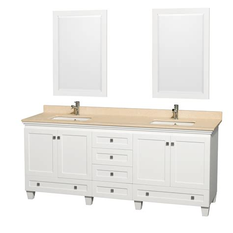 ivory bathroom vanity wyndham collection wcv800080dwhivunsm24 acclaim 80 inch