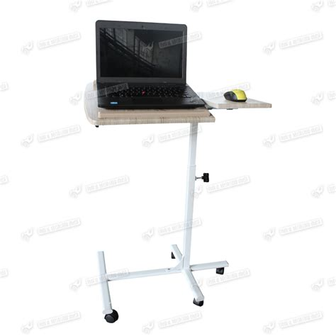 laptop desk on wheels wooden adjustable computer laptop desk pc corner work table on wheels casters ebay
