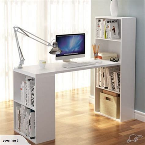 study table design study table computer desk with book case white trade me