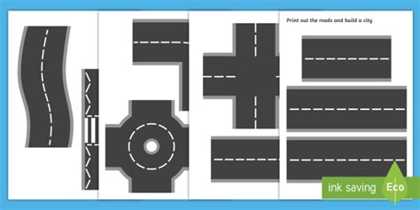 printable road for display printable roads road transport classroom display role