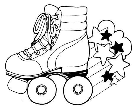 Roller Skate Coloring Page roller skate images clipart best