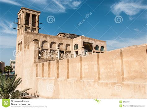 house perimeter arabian house with wind tower stock photo image 47512007