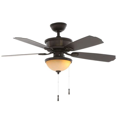 hunter oil rubbed bronze ceiling fan hunter anslee 46 in indoor premier bronze ceiling fan