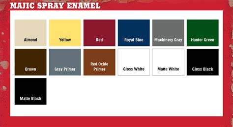 tractor supply colors majic paints