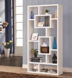 White Distressed Bookcase Bookcases Cappuccino Bookshelf With Rectangular Shelves