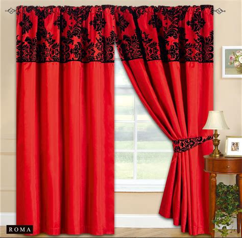 Red And Black Curtains For Living Room Car Interior Design