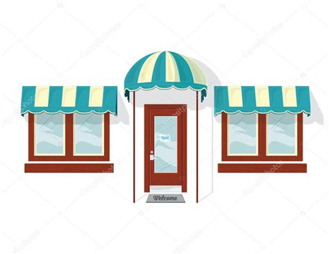 Awning Windows Prices Store Front Door And Windows Stock Vector 169 Jrmurray76
