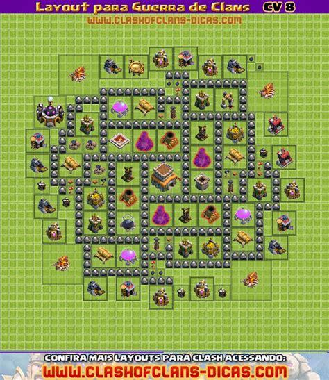layout war cv 8 layouts de cv 8 para guerra de clans clash of clans dicas