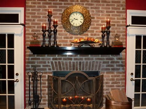 Decorate Brick Fireplace Mantel decorations decorating a fireplace mantel concrete