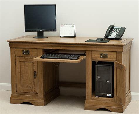 oak furniture land computer desk french farmhouse rustic solid oak computer desk