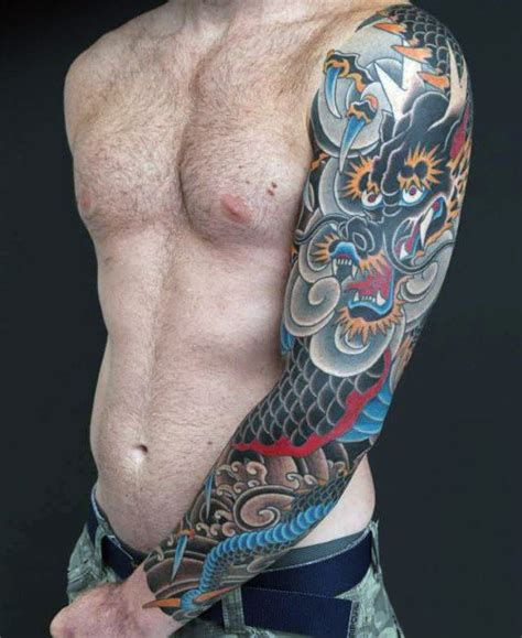 dragon tattoo pics sleeve 100 dragon sleeve tattoo designs for men fire breathing
