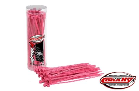 Kabel Ties 100mm 10cm team corally cable tie raps pink 2 5x100mm 50 pcs