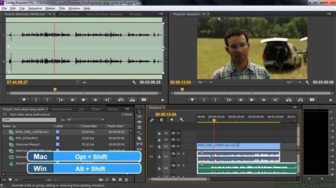 adobe premiere pro lessons adobe premiere pro cc tutorial audio auto align adobe