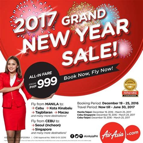 new year airline promo 2017 grand new year sale with air asia promo pisofare co