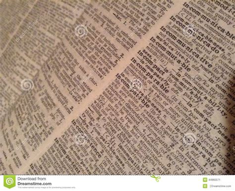 dictionary section dictionary stock photo image 44965571