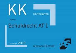 Langkamp Karteikarten Schuldrecht At 1 10 Auflage 2019