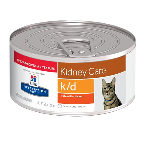 kidney care food hill s prescription diet k d kidney care with chicken canned cat food petco