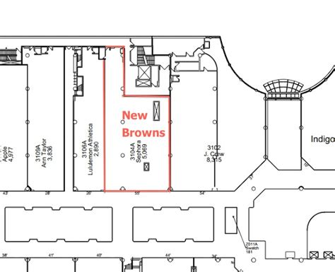 eaton center floor plan browns shoes opening 5000 sq ft toronto eaton centre store