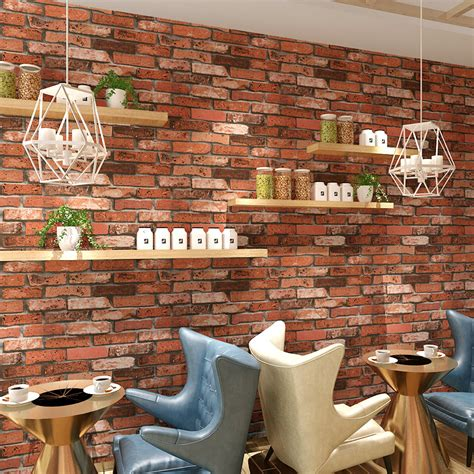 wallpaper for walls stores red brick wallpaper for walls roll clothing store