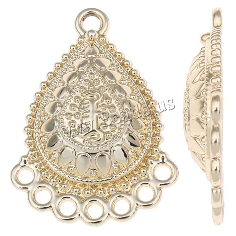 Chandelier Earring Components Zinc Alloy Chandelier Earring Component Teardrop Real Gold Plated Lead Cadmium Free China