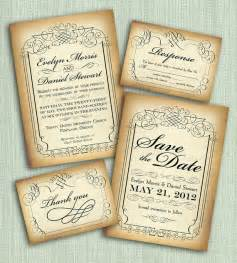 magnificent vintage style wedding invitations theruntime