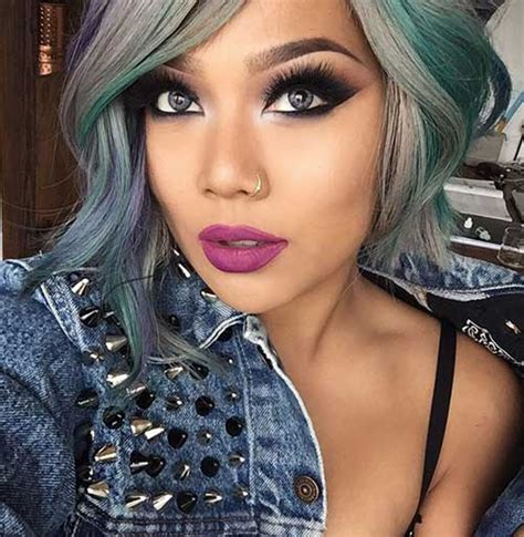colorful short hair styles 30 good color for short hair short hairstyles haircuts