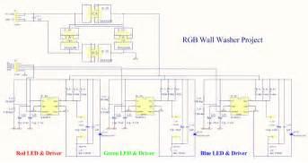rgb led light wall washer circuit diagram