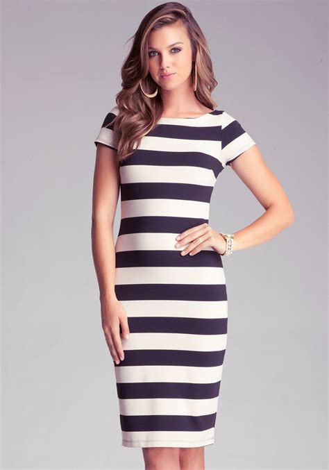 Striped Dresser by Bebe Stripe Midi Dress View All Bebe Wish List