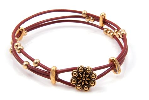 leather bracelets diy 3 strand leather bracelet bead shop