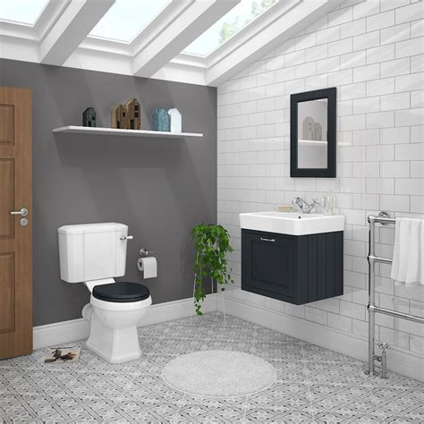 chatsworth graphite cloakroom suite wall hung vanity unit