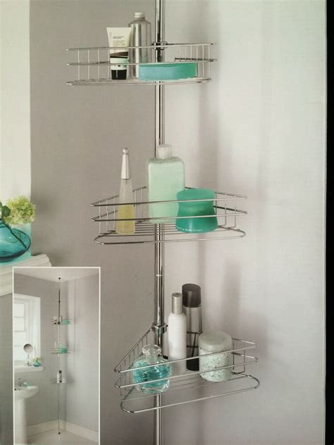 Shower Pole Shelf by Beldray 3tier Shower Caddy Tension Rod Bathroom