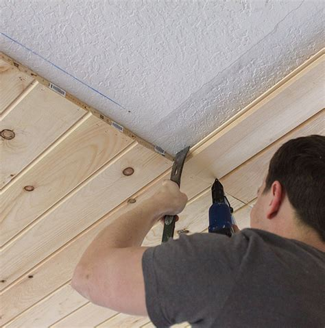 Diy Tongue And Groove Ceiling by Kitchen Chronicles Diy Tongue And Groove Plank Ceiling