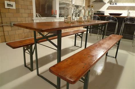 Refurbished German Beer Garden Table With Benches German Garden Table