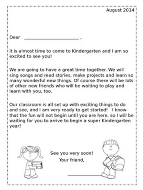 Parent Greeting Letter this kindergarten greeting packet is a way of